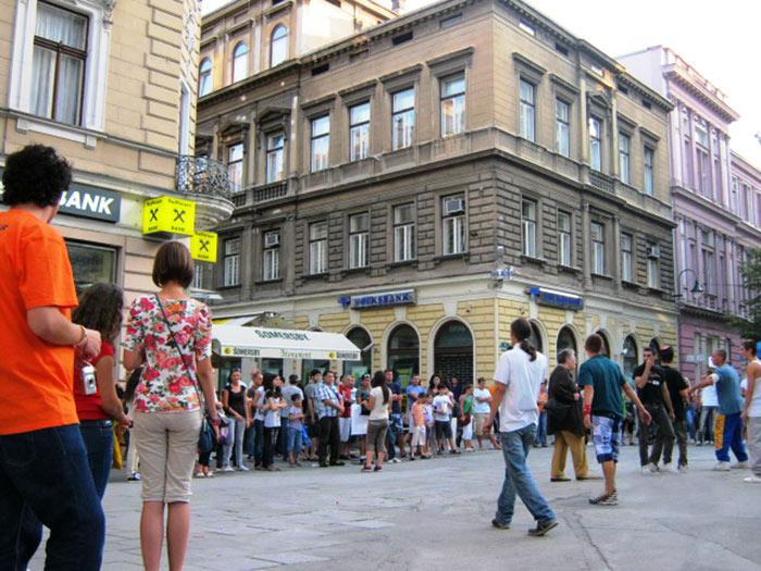 ▲ 지금은 평화롭게 보이는 사라예보의 시내 풍경.