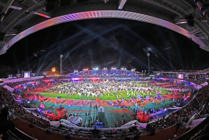 ▲ 2015 경북문경세계군인체육대회 개막식.