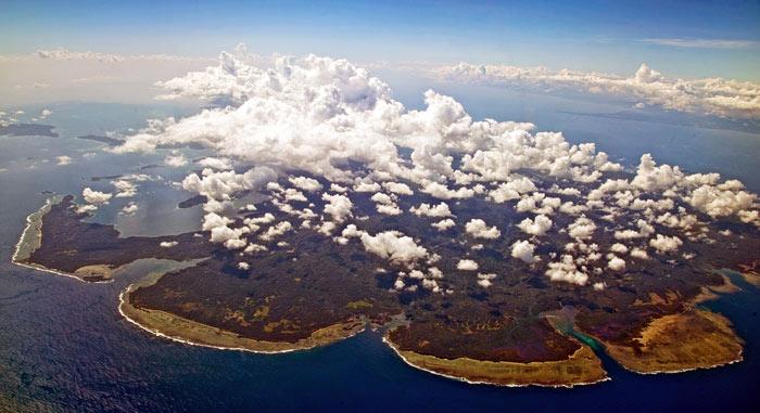 ▲ 하늘에서 내려다본 필리핀의 작은 섬. 아름답다.