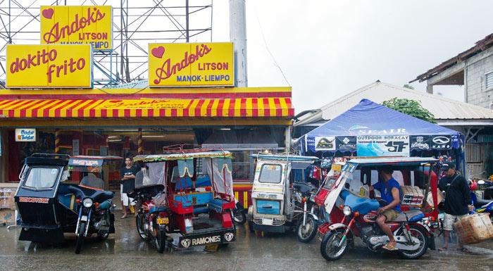 ▲ 여행자들이 자주 이용하는 필리핀 대중교통 `트라이시클`.