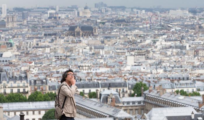 ▲ 몽마르트르 언덕 위 사크레쾨르 성당에서 내려다본 파리 시내 전경.
