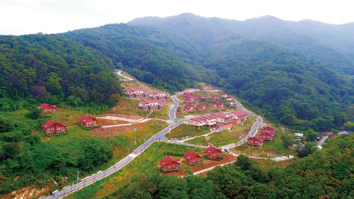 ▲ 산림치유문화센터 국립산림치유원 `다스림`마을 풍경
