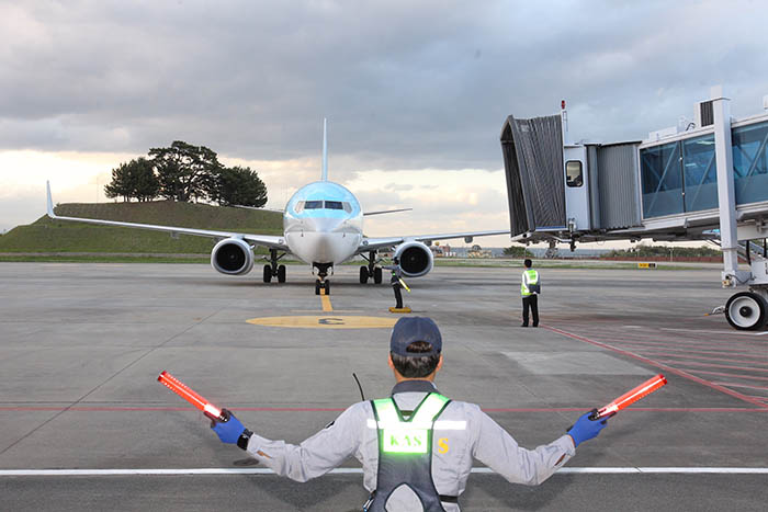 ▲ 포항공항에 재취항한 대한항공기가 이륙 준비를 하고 있다.  /포항시 제공
