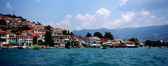 ▲ 조용하고 아름다운 매력을 지닌 마케도니아 호숫가 마을 오흐리드.