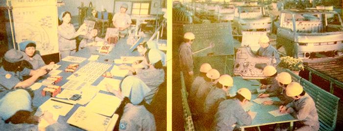 ▲ 생산성을 올리기 위해 기업체에서 마련한 교육 프로그램에 참가한 근로자들의 모습.